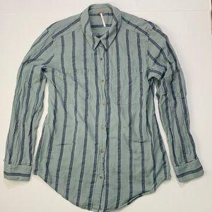 Free People 100% Cotton button down shirt